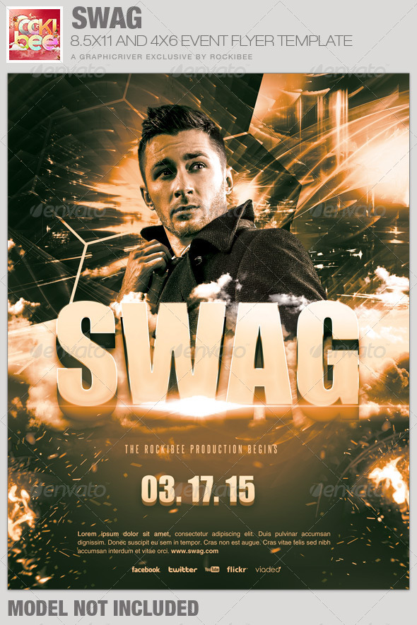 GraphicRiver Swag Event Flyer Template 6604038