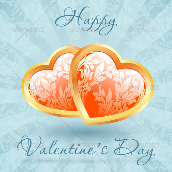 GraphicRiver Happy Valentine s Day Floral Card 6604226
