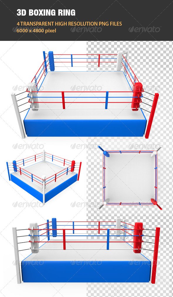 GraphicRiver 3D Boxing Ring 6605065