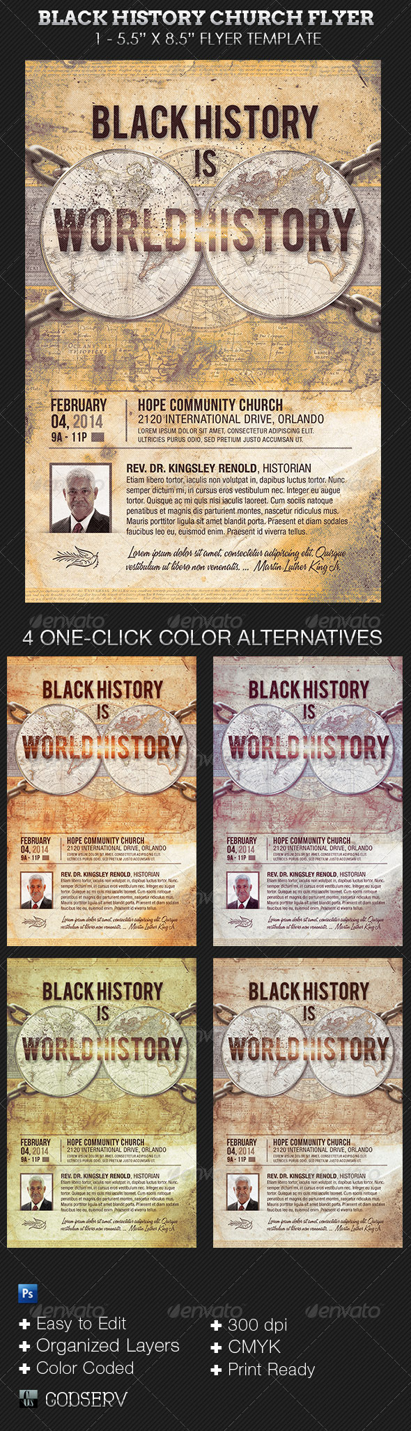 GraphicRiver Black History Church Flyer 6605145
