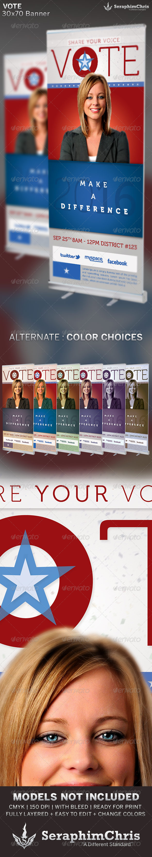 GraphicRiver Vote Political Election Banner Template 6605513