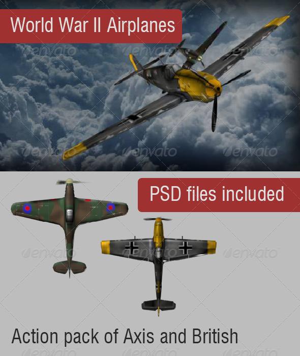 GraphicRiver World War II Warplanes 6591292