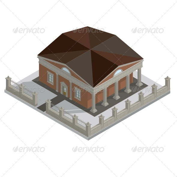 GraphicRiver Vector Isometric House 6606047