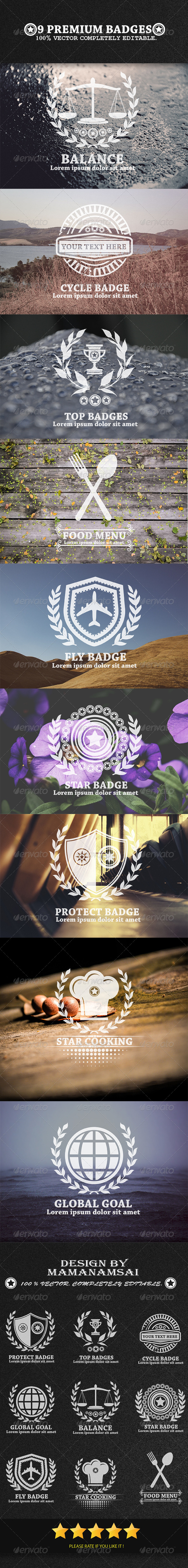 GraphicRiver 9 Premium Badges 6606833