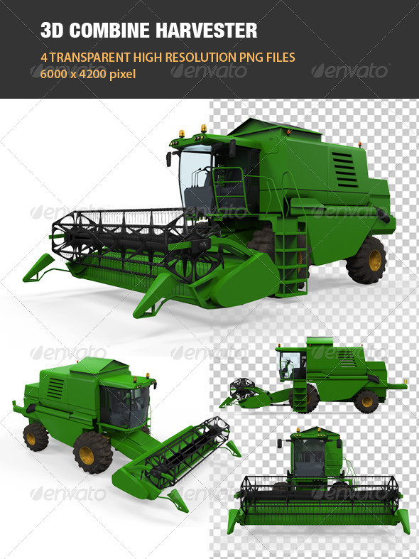 GraphicRiver 3D Combine Harvester 6607180