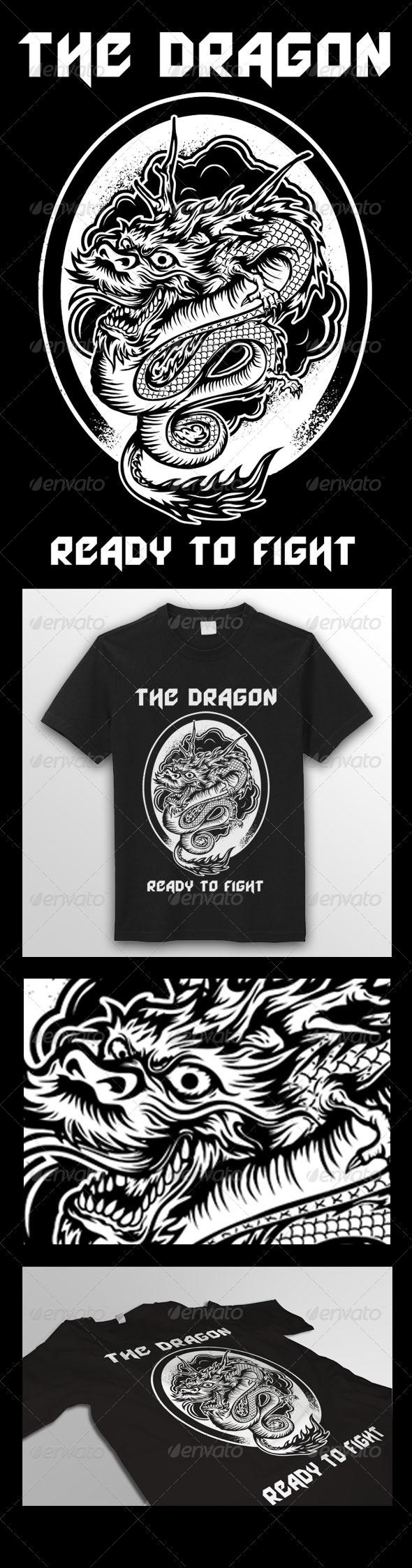 GraphicRiver Dragon T-Shirt 6607688