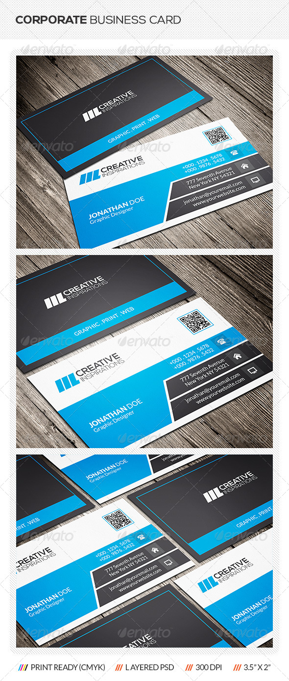 GraphicRiver Corporate Business Card 6608201