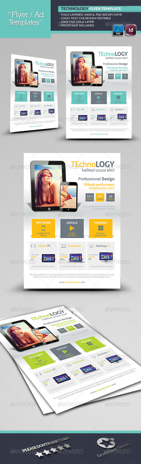GraphicRiver Tecnology Flyer Template 6605462
