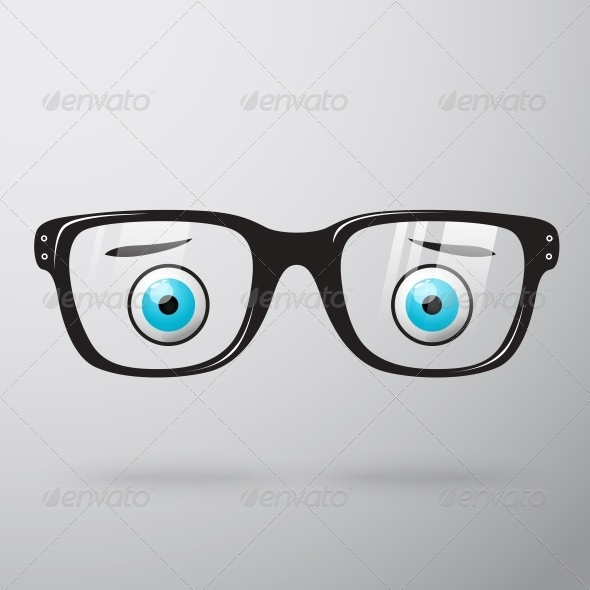 GraphicRiver Worried Glasses with Eyes 6608436