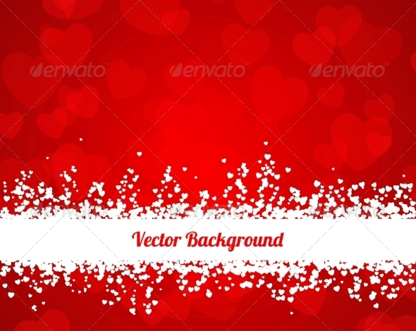 GraphicRiver Valentines Hearts Background 6608606
