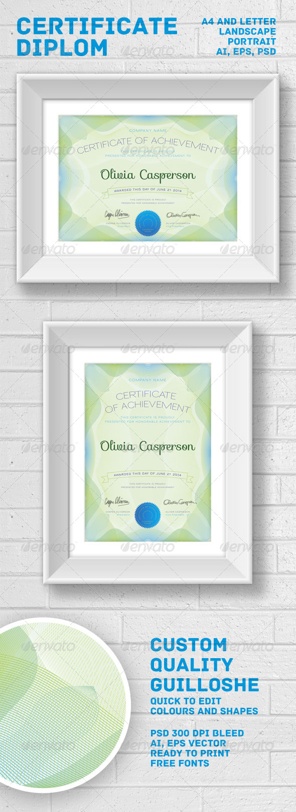GraphicRiver Modern Certificate Diploma 6579982