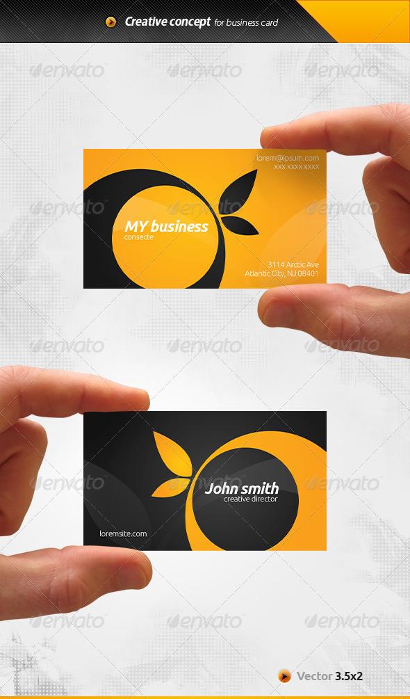 GraphicRiver Orange Business Card 6609049