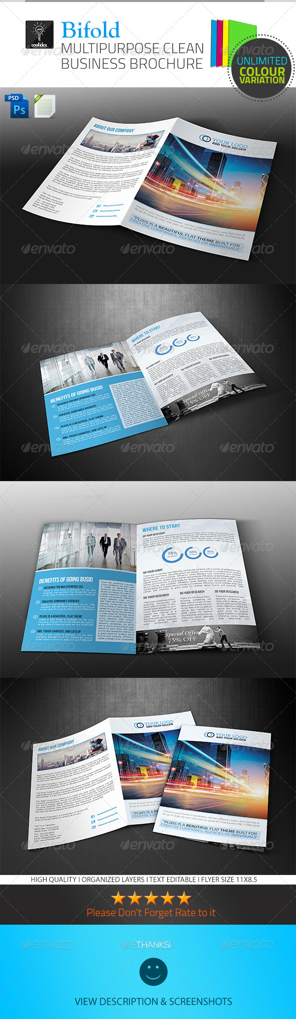 GraphicRiver A4 Business Brochure Bifold 6609060