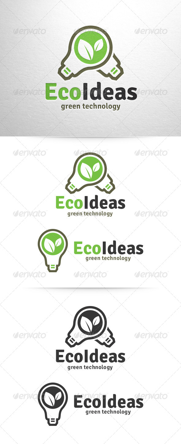 GraphicRiver Eco Ideas Logo Template 6609200