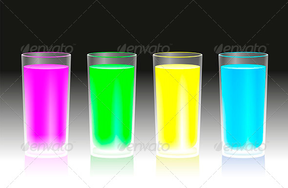 GraphicRiver Fluorescent Beverages 6609374