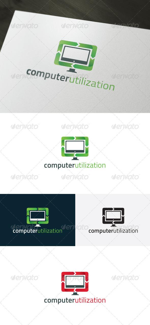 GraphicRiver Computer Utilization Logo 6609418