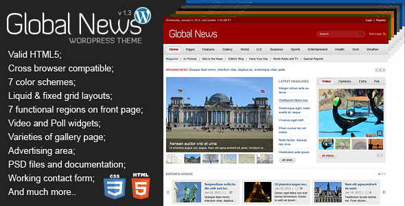 Global News Portal - Responsive WordPress Theme