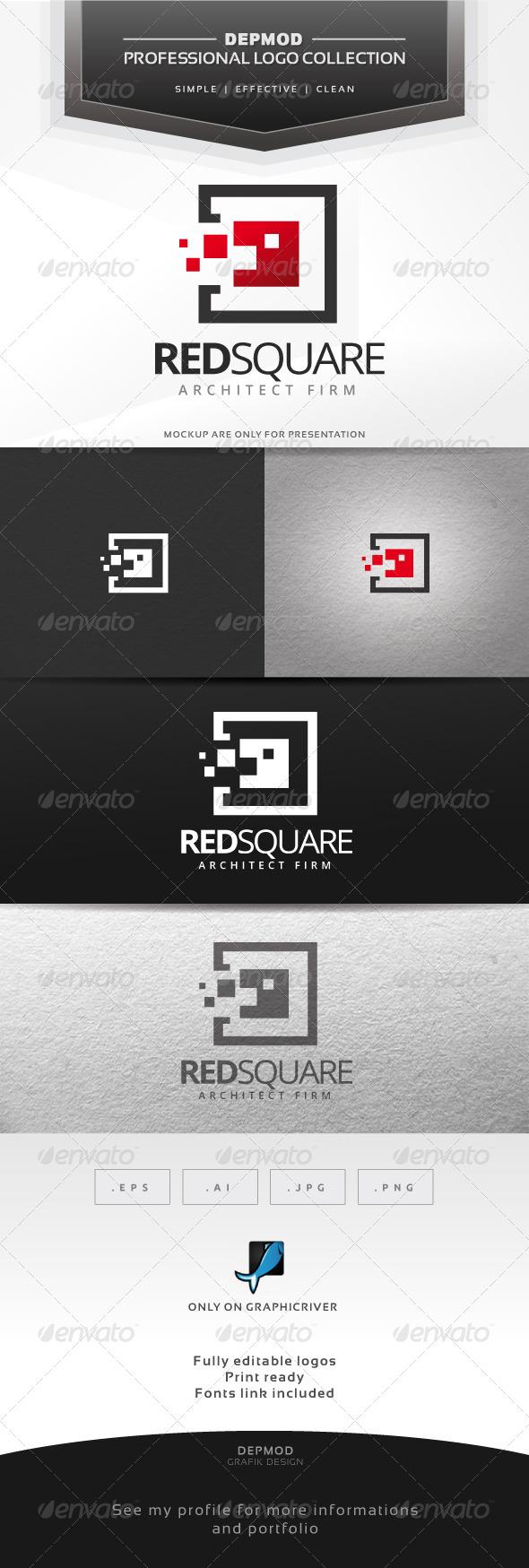 GraphicRiver Red Square Logo 6609713
