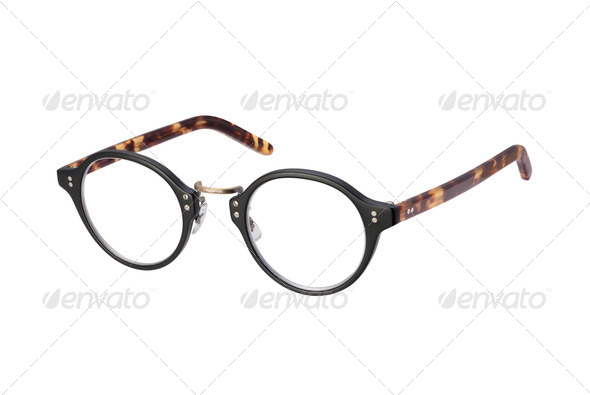 Vintage Eyeglasses isolated with clipping path - Stock Photo - Images