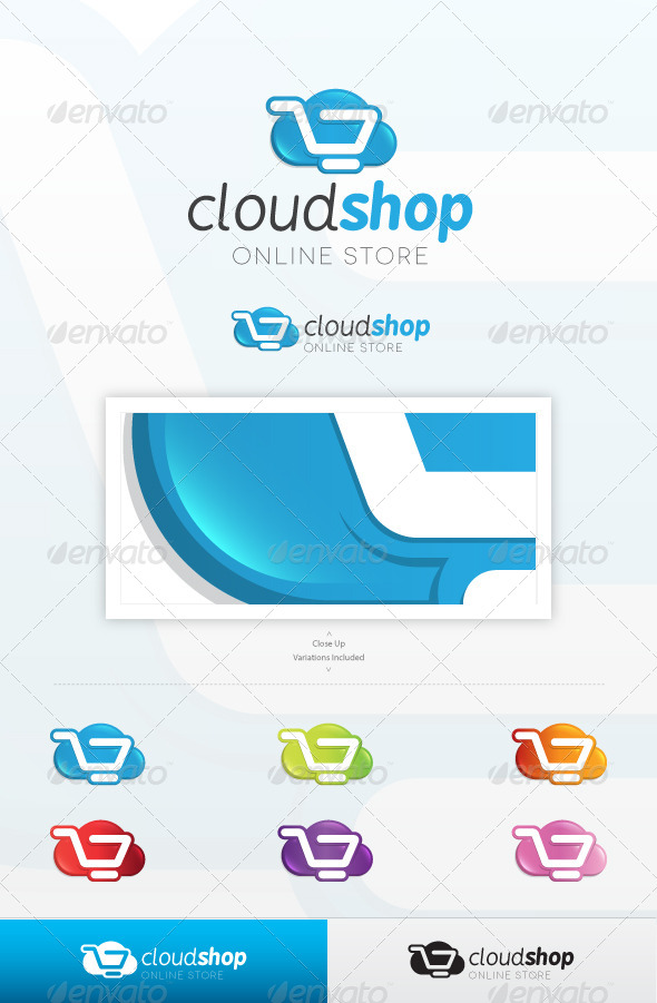 Cloud Shop Logo - Symbols Logo Templates