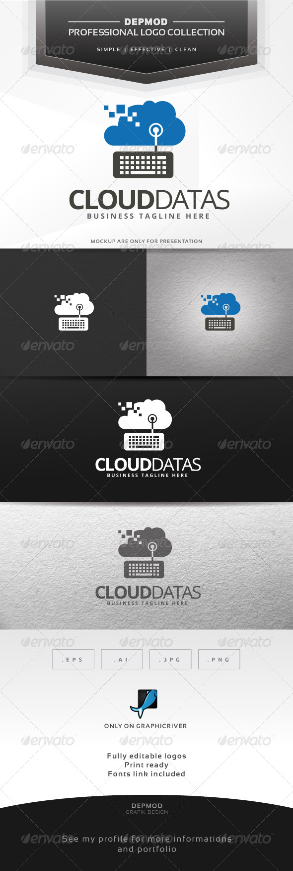 GraphicRiver Cloud Datas Logo 6611143