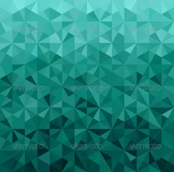GraphicRiver Abstract Green Triangle Background 6611603
