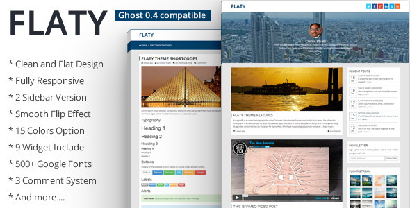 Flaty - Simple Flat Theme For Ghost - Ghost Themes Blogging