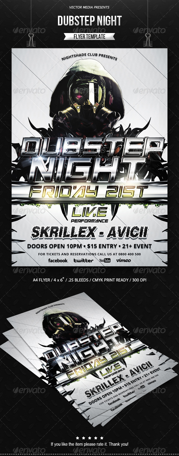 GraphicRiver Dubstep Night Flyer 6611904