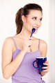 woman holding morning coffee - PhotoDune Item for Sale