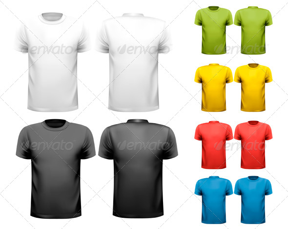 GraphicRiver Colorful Male T-Shirts Design Template 6612525
