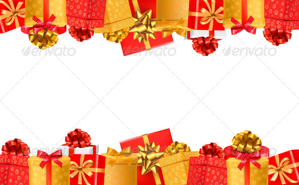 GraphicRiver Holiday Background with Colorful Gift Boxes 6612549