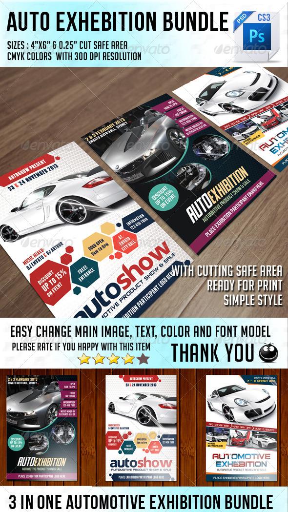 GraphicRiver Auto Exhibition Flyer Bundle 6605079