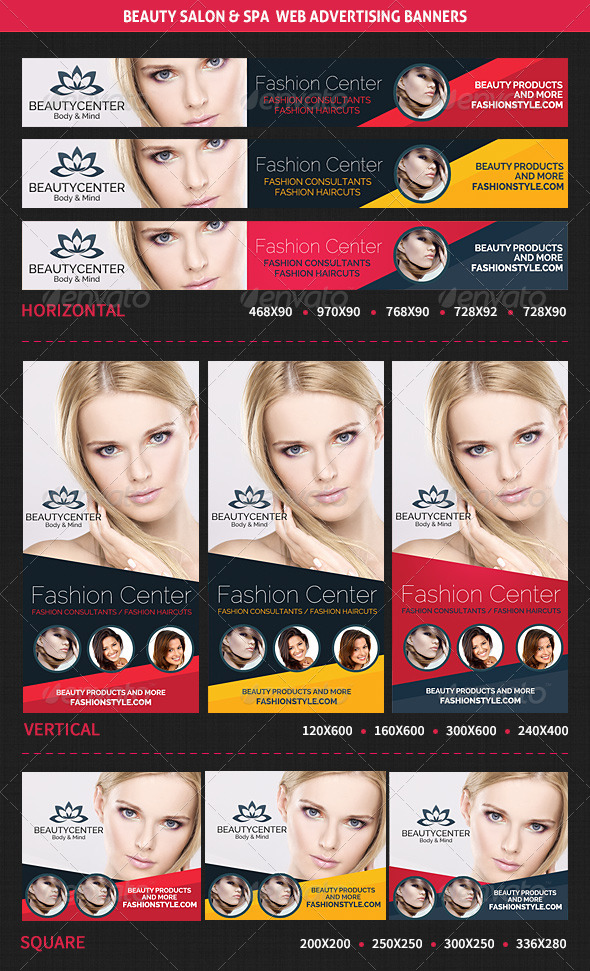 GraphicRiver Beauty Center & Spa Web Advertising Banners 6613058