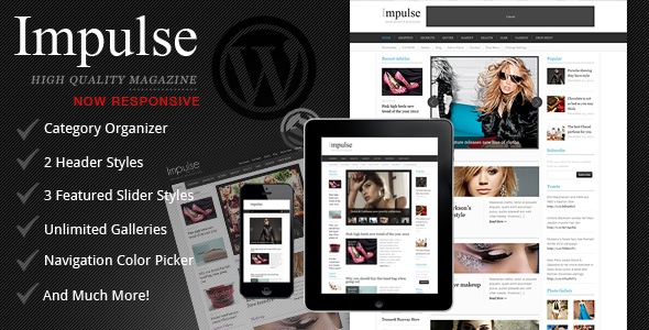 Impulse - Responsive Clean Magazine Theme - Blog / Magazine WordPress