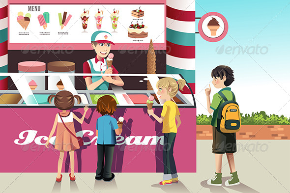 GraphicRiver Kids Buying Ice Cream 6613248