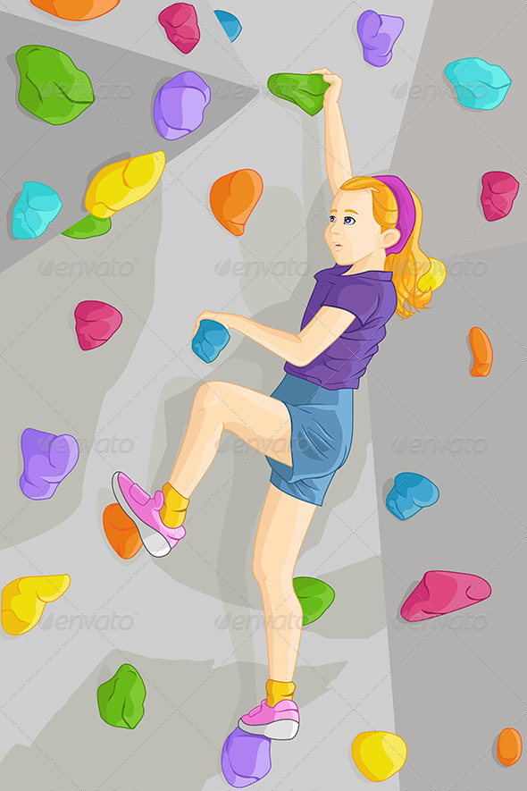 GraphicRiver Indoor Rock Climber 6613527
