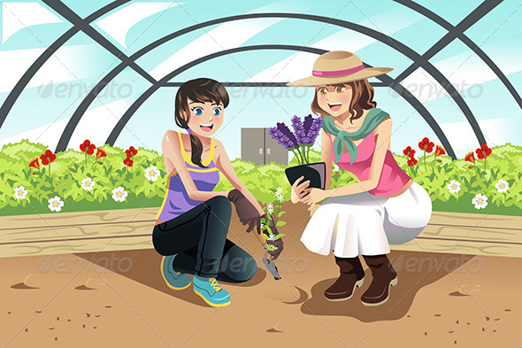 GraphicRiver Planting in Greenhouse 6613574