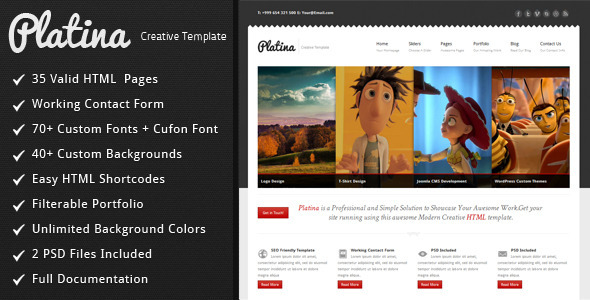 Platina - Creative HTML Template - ThemeForest