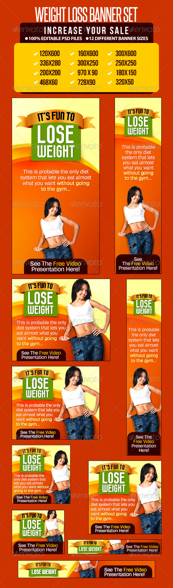 GraphicRiver Weight Loss Banner Set 6613940