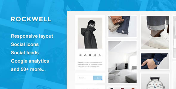 Cover.  large preview Rockwell   A Clean and Responsive Theme  (Blog)