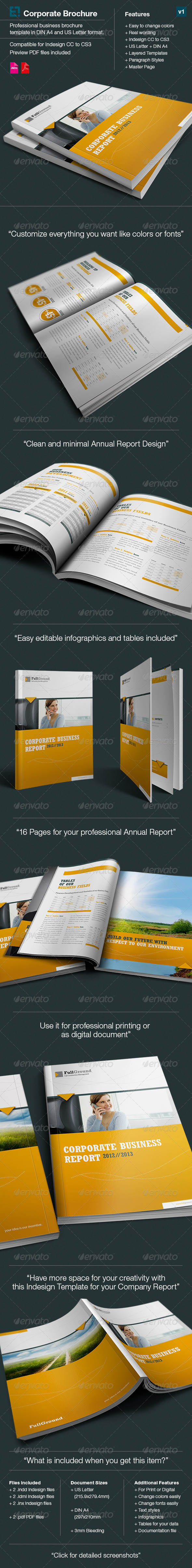 Corporate Business Report // Din A4  and US Letter - Corporate Brochures