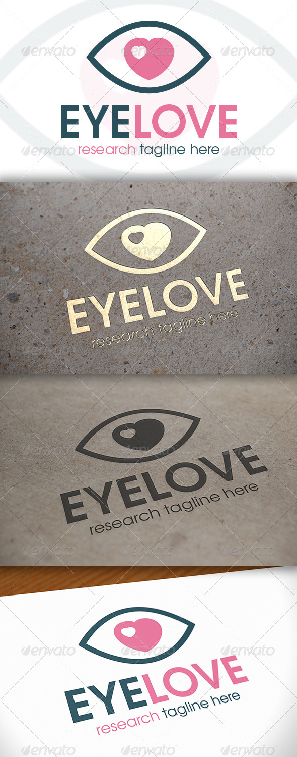 GraphicRiver Eye Love Logo 6614889