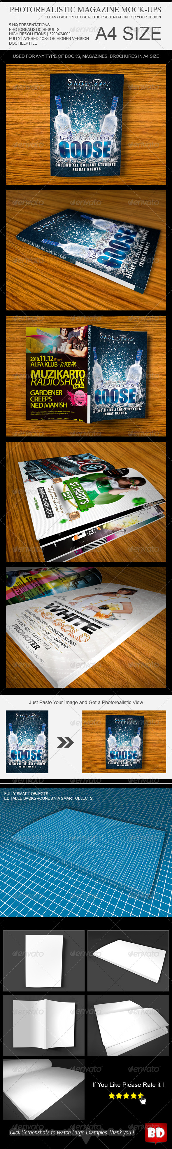 GraphicRiver Photo Realistic Magazine Mockup 6603523