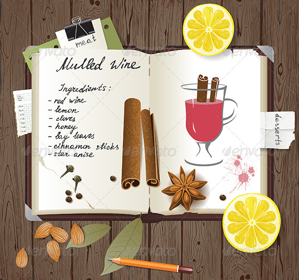 GraphicRiver Mulled Wine Recipe 6618218