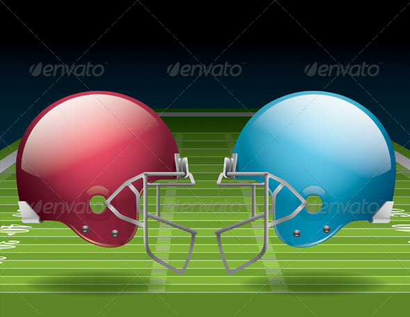 GraphicRiver American Football Field and Helmets 6618283