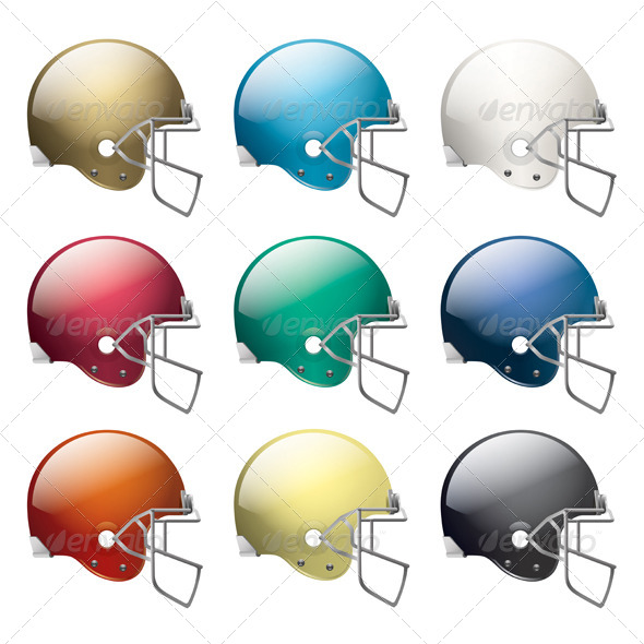 GraphicRiver American Football Helmets 6618298