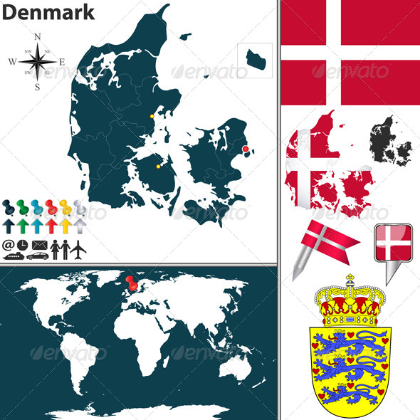 GraphicRiver Map of Denmark 6618354