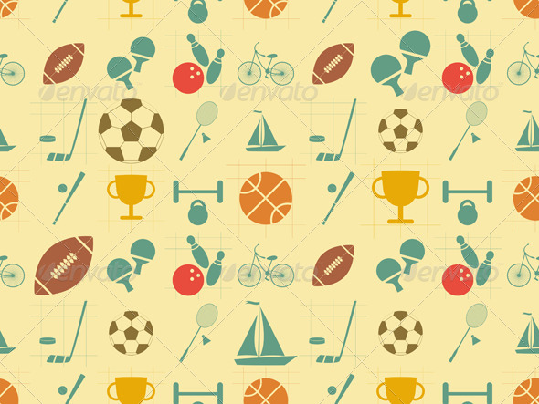 GraphicRiver Flat Sports Seamless Background 6618472
