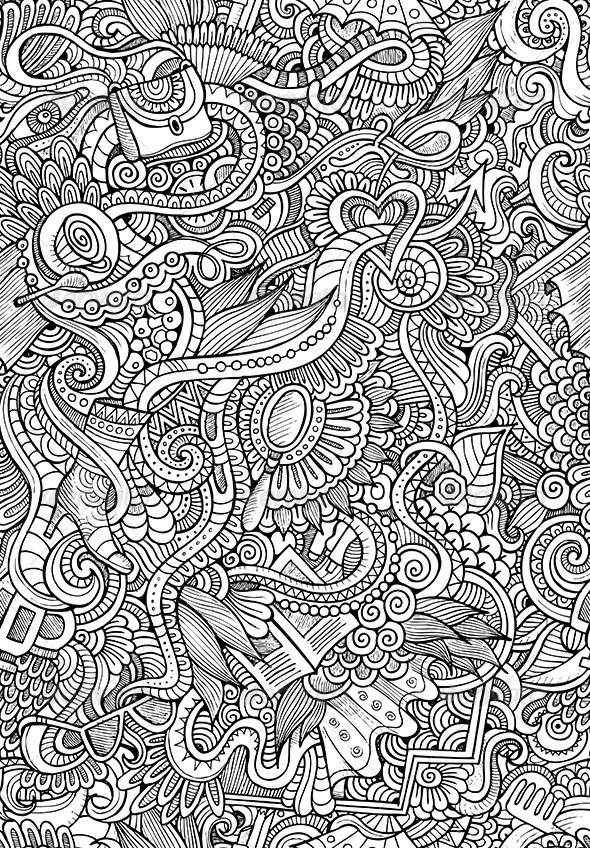 GraphicRiver Doodles Seamless Fashion Pattern 6614822