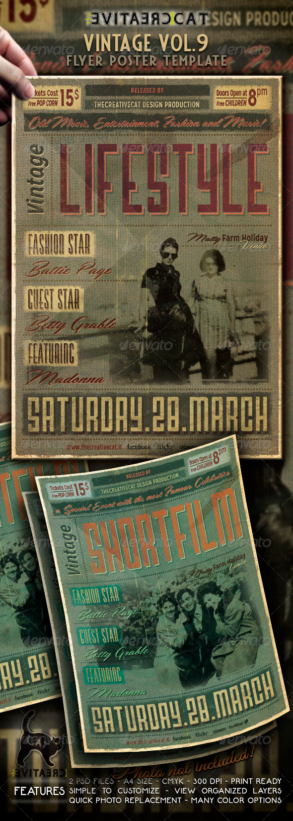 GraphicRiver Vintage Flyer Poster Vol 9 6619007
